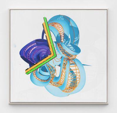 Frank Stella, 'Blue Hat 1', 2018