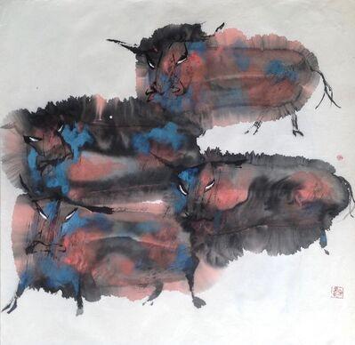Quan Handong, 'Oxen (Multi-Grouping)', 2007