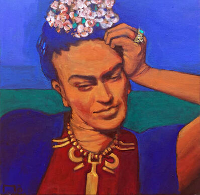 Mo, 'Frida with Necklace'