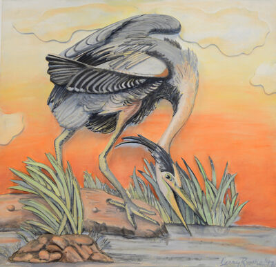 Larry Rivers, 'Great Blue Heron', 1997