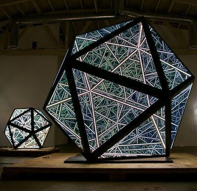 """Anthony James, '50"""" Icosahedron, (Solar Black)', 2019"""