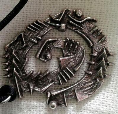 Arnaldo Pomodoro, 'Signed metal pendant (Brooch) ', ca. 1989