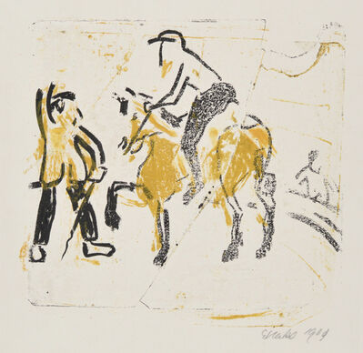 Erich Heckel, 'Riding Act', 1909
