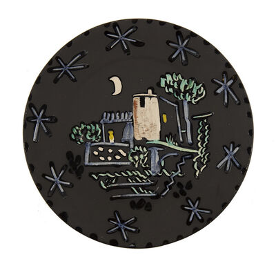 Pablo Picasso, 'Paysage à la maison sous la lune et les étoiles', 1953