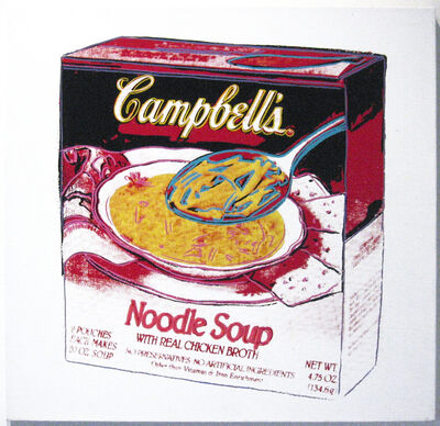 Andy Warhol, 'Campbell's Soup: Noodle Soup Box', 1986