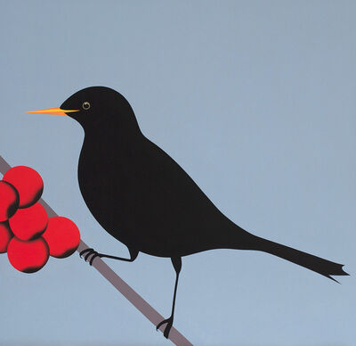 Jeroen Allart, 'Black bird - animal figurative painting', 2013