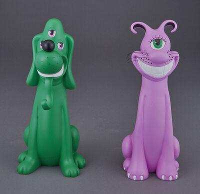 Kenny Scharf, 'Cateyeguy and Dogeyeguy', 2004