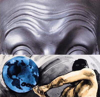 John Baldessari, 'Raised Eyebrows / Furrowed Foreheads / Figure with Globe', 2009