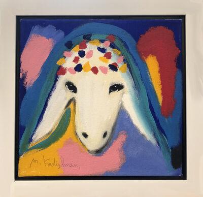 Menashe Kadishman, 'Blue Red Sheep', ca. 1990