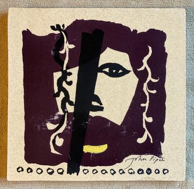 John Piper, 'Mauve, Yellow and Black face ', ca. 1982