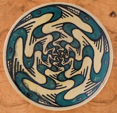 Walter Anderson, 'A Rare Shearwater Pottery Plate', ca. 1930-1940