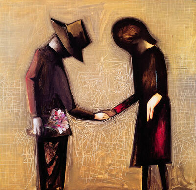Charles Blackman, 'The Meeting', 1961