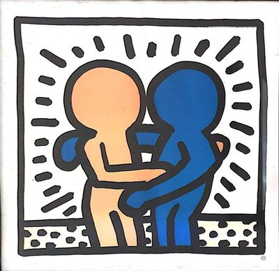 Keith Haring, 'Hugging ', ND