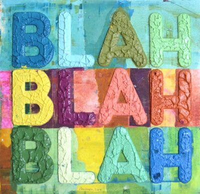 Mel Bochner, 'Blah Blah Blah', 2018