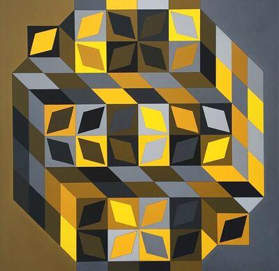 Victor Vasarely, 'Tridim-Cristal-W ', 1968-1969