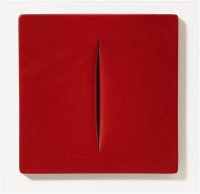 Lucio Fontana, 'Concetto Spaziale (Rosso)', 1968