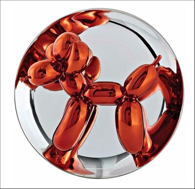 Jeff Koons, 'Balloon Dog (Orange) in original packaging with stand and COA (mint)', 2015