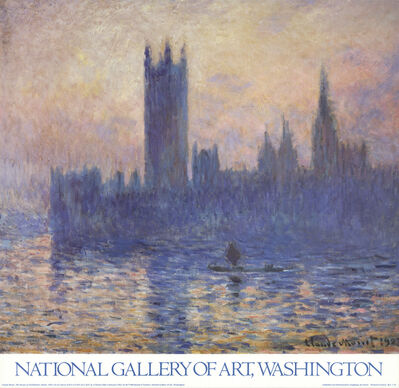 Claude Monet, 'The Houses of Parliament, Sunset', 1986