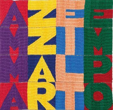 Alighiero Boetti, 'Ammazzare il Tempo', 1989