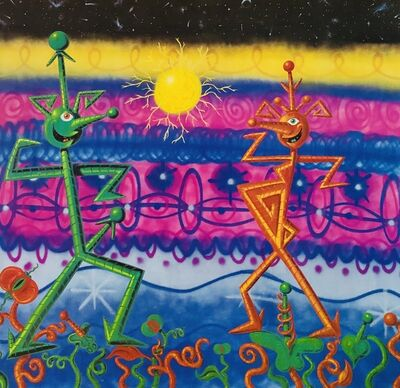 Kenny Scharf, 'Kenny Scharf at Fun Gallery, Tony Shafrazi (vintage 1980s exhibit poster)', 1984