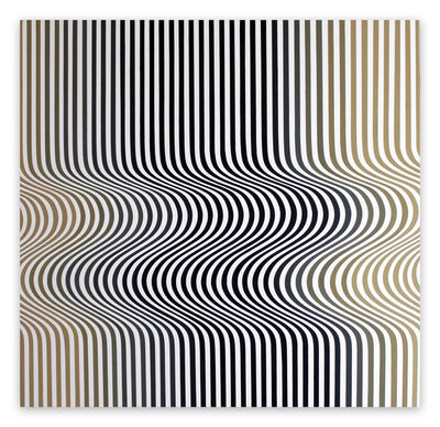 Cristina Ghetti, 'Double Wave (Abstract painting)', 2017
