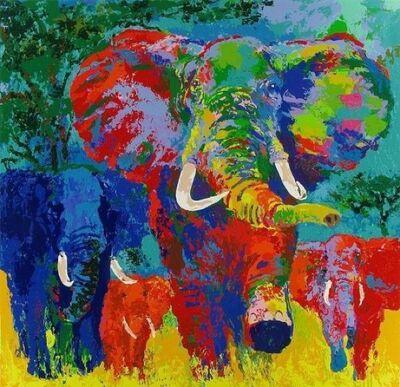 LeRoy Neiman, 'Elephant Charge', 1999