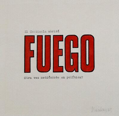 Margarita Paksa, 'El centinela abrirá fuego IV', 1969