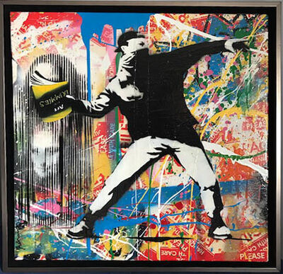 Mr. Brainwash, 'Banksy Thrower', 2015
