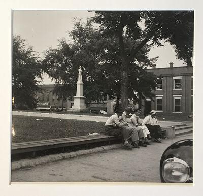 Dorothea Lange, 'Men Idling Round Courthouse Square', 1939