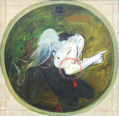 "Sunil Das, 'Timepiece, Oil on Canvas by Padmashree Artist Sunil Das ""In Stock""', 1999"