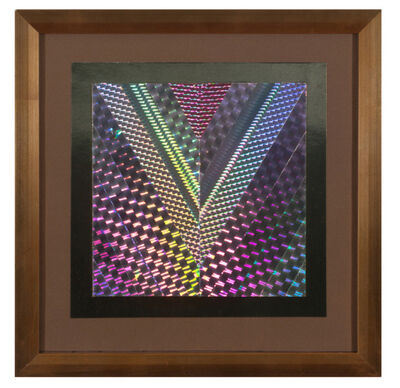 """Kenneth Noland, 'Chevron Collage """"for Twig and Laila"""" (Trustees of the Honolulu Museum of Art), Deaccessioned from the Honolulu Museum of Art Collection ', 1984"""