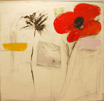 SALAH ALKARA, 'Big Red Flower', 2013