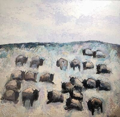 Theo Waddell, 'Red Rocks Buffalo', Contemporary