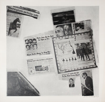 Robert Rauschenberg, 'Features from Currents No. 57', 1970