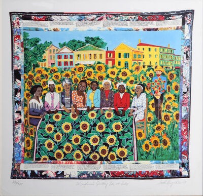 Faith Ringgold, 'The Sunflower's Quilting Bee at Arles', 1997
