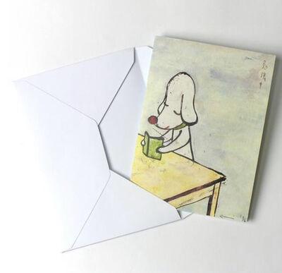 "Yoshitomo Nara, '""Studying"" Greeting Card', 2010-2019"