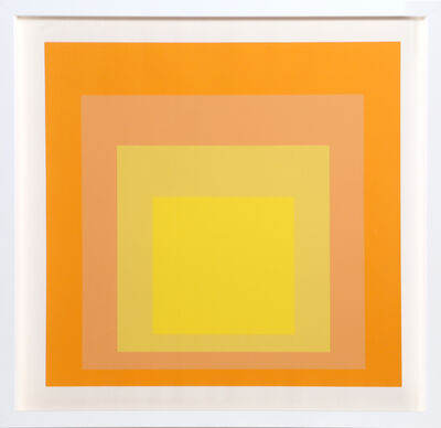 Josef Albers, 'Interaction of Color: Homage to the Square (Yellow)', 1973