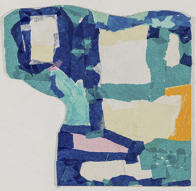 Fukuko Harris, 'Collage With Blue and Green', 2018