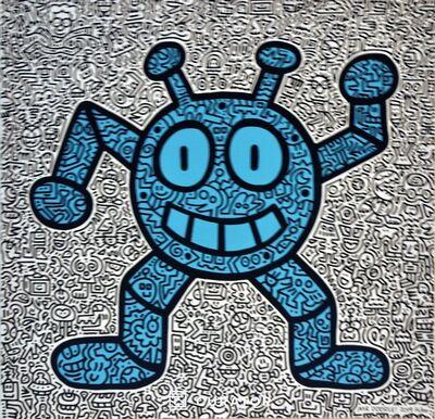 Mr. Doodle, 'Blue Robot ', 2019