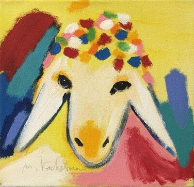 Menashe Kadishman, 'SMALL YELLOW SHEEP', 2000