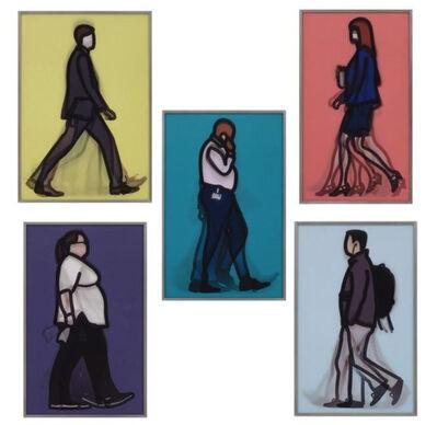 Julian Opie, 'Lenticular Suite (Banker, Detective, Lawyer, Nurse, Student)', 2013