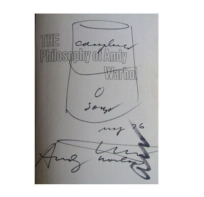"Andy Warhol, '""Campbells Soup Can"",  1976, Drawing, Signed Twice, UNIQUE', 1976"