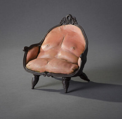 Hsin-Yi Huang, 'Dark Purple Crown Chair',