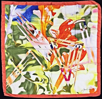 James Rosenquist, 'Limited Edition Vintage Louis Vuitton Silk Scarf ', 1987