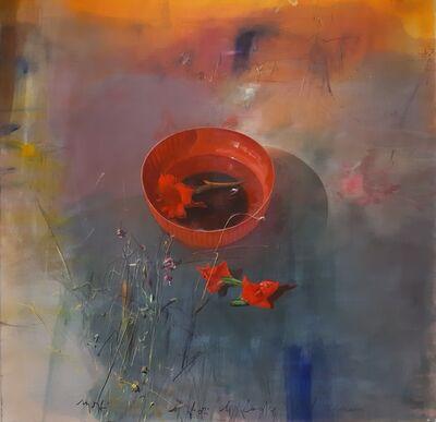 Mario Madiai, 'I fiori le foglie l'acqua', ca. 2000