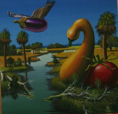 Bill Mead, 'Flying Eggplant (Eggplant, Tomato, and Squash)', 2015