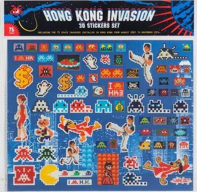 Invader, 'Hong Kong Invasion 3D Stickers Set', 2015