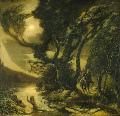 Albert Pinkham Ryder, 'Siegfried and the Rhine Maidens', 1888/1891
