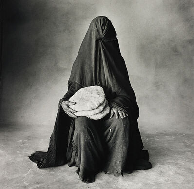 Irving Penn, 'Woman with three loaves, Morocco (B)', 1971