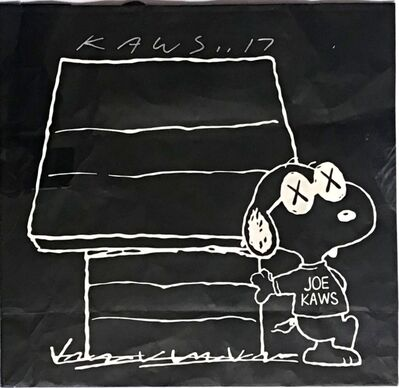 KAWS, 'Original bag from KAWSxPeanutsxUniqlo Collection (Hand Signed)', 2017